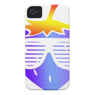 Coque iPhone 4 Case-Mate Fraise mignonne de bleu de fruit