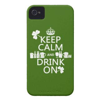 Coque iPhone 4 Case-Mate Gardez le calme et buvez sur (le st patrick