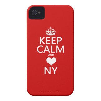 Coque iPhone 4 Case-Mate Gardez le calme et le coeur New York (les couleurs
