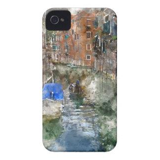 Coque iPhone 4 Case-Mate Gondoles de Venise Italie et bâtiments colorés