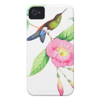 Coque iPhone 4 Case-Mate Humingbird et Hybiscus