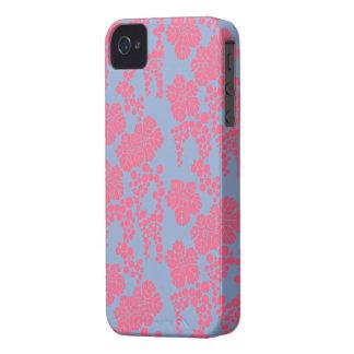 Coque iPhone 4 Case-Mate Impression florale japonaise - rose et caisse