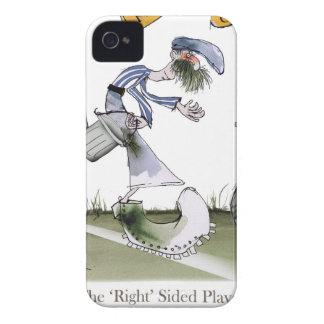 Coque iPhone 4 Case-Mate kit blanc bleu de droite du football