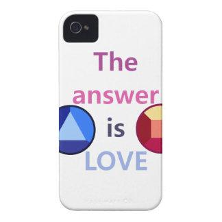 Coque iPhone 4 Case-Mate La réponse est l'amour (v1)