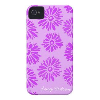 Coque iPhone 4 Case-Mate Le pourpre fleurit la caisse de l'iPhone 4/4S