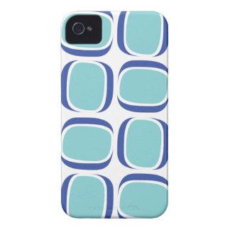 Coque iPhone 4 Case-Mate Motif de mod de la boîte bleue 60s