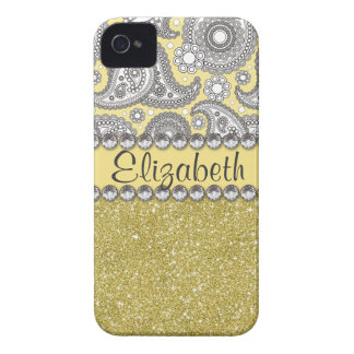 Coque iPhone 4 Case-Mate Motif d'impression de fausse pierre de Paisley de