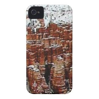 Coque iPhone 4 Case-Mate neige et glace dans le formationsf de roche
