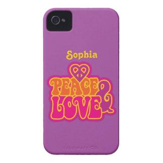 Coque iPhone 4 Case-Mate Paix et amour