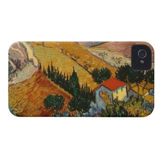 Coque iPhone 4 Case-Mate Paysage de Vincent van Gogh | avec la Chambre et