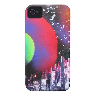 Coque iPhone 4 Case-Mate Peinture de paysage de l'espace de ville d'art de