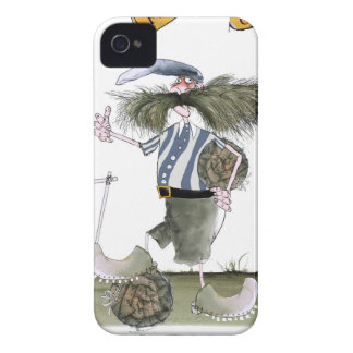 Coque iPhone 4 Case-Mate rayures blanches bleues de capitaine du football
