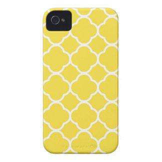 Coque iPhone 4 Case-Mate Ressort Quatrefoil jaune