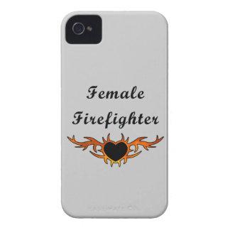 Coque iPhone 4 Case-Mate Tatouage femelle de sapeur-pompier