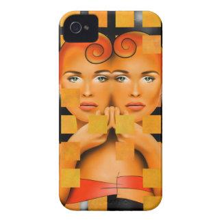Coque iPhone 4 Case-Mate Tetrathos V1 - tête de coeur