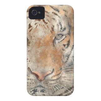 Coque iPhone 4 Case-Mate Tigre étroit dans l'aquarelle