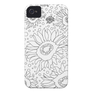 Coque iPhone 4 Case-Mate Tournesols colorant la page