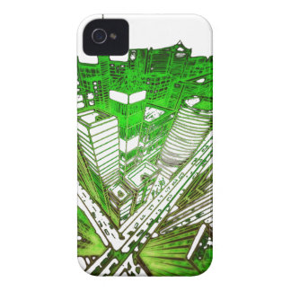 Coque iPhone 4 Case-Mate ville dans 3 point special version perspective