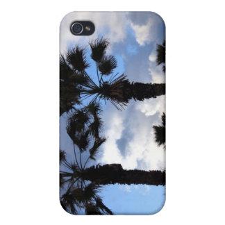 Coque iPhone 4 Ciel bleu et palmiers