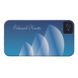 Coque iPhone 4 Ciel bleu translucide de Tri Voile personnalisé