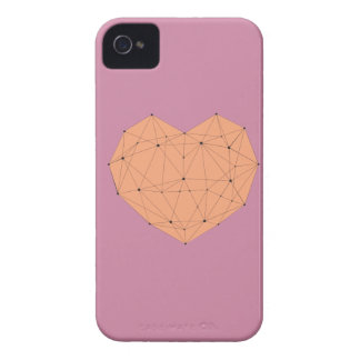 Coque iPhone 4 Coeur géométrique