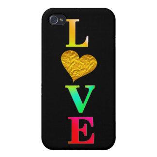 Coque iPhone 4 conception colorée mignonne de couverture du coeur