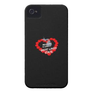 Coque iPhone 4 Conception de coeur de bougie pour l'état du