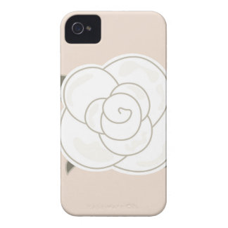 Coque iPhone 4 Eco de brun de rose de conception