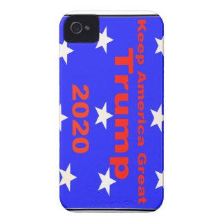 Coque iPhone 4 Gardez le slogan politique de l'atout 2020 de
