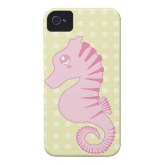 Coque iPhone 4 Hippocampe rose mignon