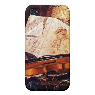 Coque iPhone 4 Instruments de musique vintages peignant des
