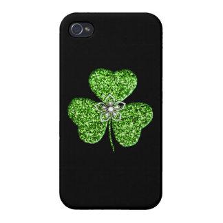 Coque iPhone 4 iPhone de shamrock et de fleur de parties