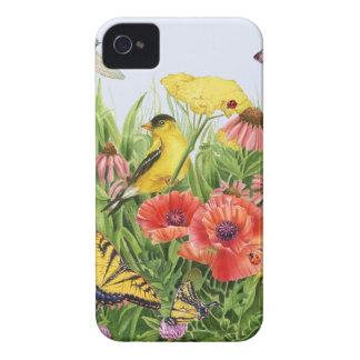 Coque iPhone 4 Jardin de chardonneret