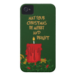 Coque iPhone 4 Joyeuse bougie lumineuse de Noël, caisse 2-iPhone