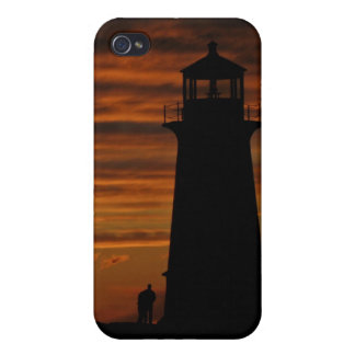 Coque iPhone 4 La silhouette de l'amant, la crique de Peggy, la