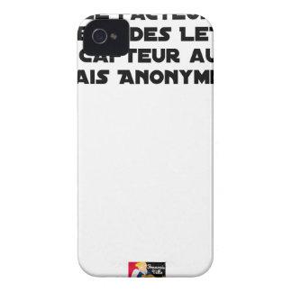 COQUE iPhone 4 LE FACTEUR DISTRIBUE DES LETTRES, LE CAFTEUR AUSSI