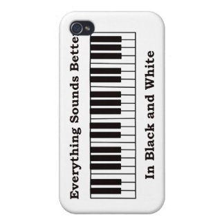 Coque iPhone 4 Le piano tout retentit meilleur en noir et blanc