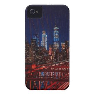Coque iPhone 4 Lumières de nuit de New York City de pont de