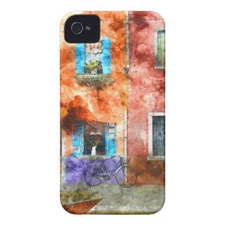 Coque iPhone 4 Maisons colorées en île de Burano, Venise