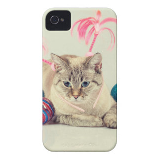 Coque iPhone 4 Miscellaneous - Cat With Woolly Hat Eight