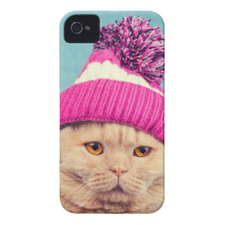 Coque iPhone 4 Miscellaneous - Cat With Woolly Hat Seven