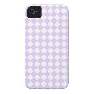Coque iPhone 4 Motif Checkered de diamant pourpre lilas