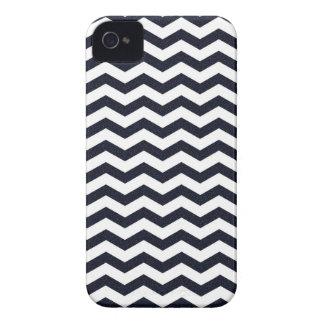 Coque iPhone 4 Motif de zigzag texturisé de zigzag de chevron de