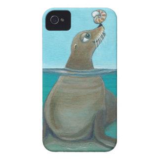 """Coque iPhone 4 """"Nautilus"""" l'otarie"""