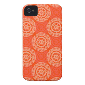 Coque iPhone 4 Orange abstraite