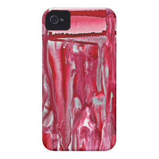 Coque iPhone 4 paysage cramoisi 121517 d'hiver