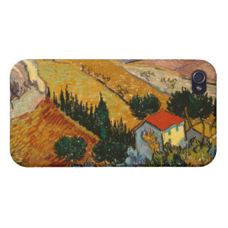 Coque iPhone 4 Paysage de Vincent van Gogh | avec la Chambre et