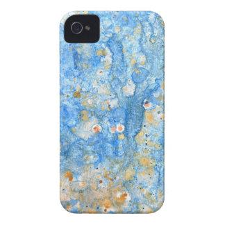 Coque iPhone 4 Peinture bleue abstraite