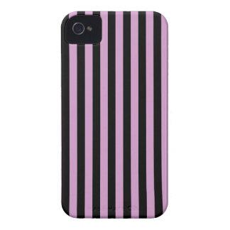 Coque iPhone 4 Rayures minces - orchidée de milieu de noir et de