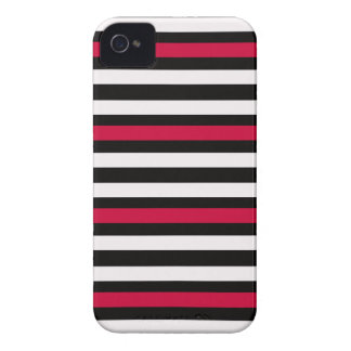 Coque iPhone 4 Rouge horizontal moderne de BW